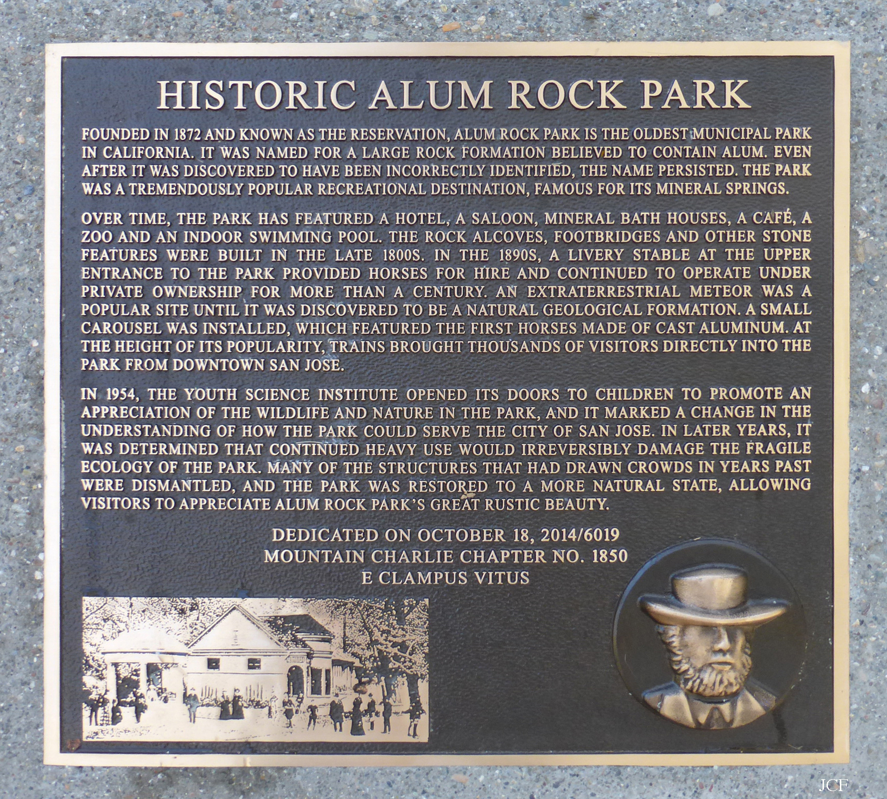 Photo of plaque wide