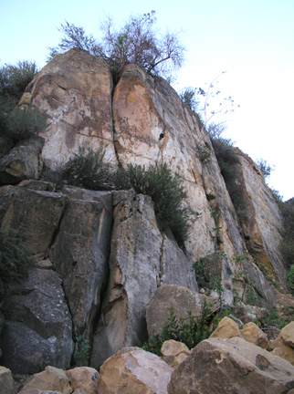 [ Photo of exposed rock. ]
