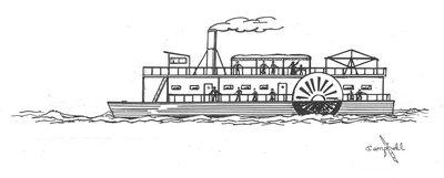 James Campbell's drawing of The Steamboat Jenny Lind detail