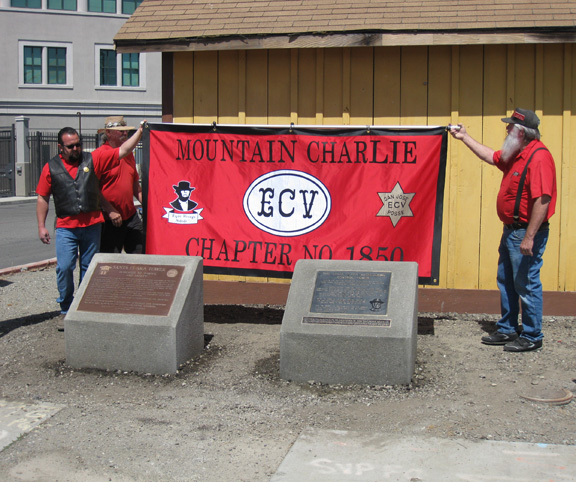 Photo of plaques unveiled.
