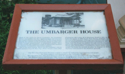 [ Photo of Umbarger Plaque.]